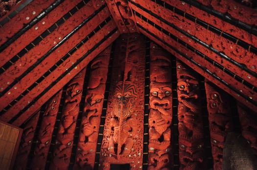 A pataka was a a storage house, but this one in particular was also meant to showcase Te Pokiha's (an ancient Maori tribal leader) status/power.